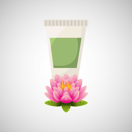 spa treatment: therapy with spa treatment icon, vector illustration