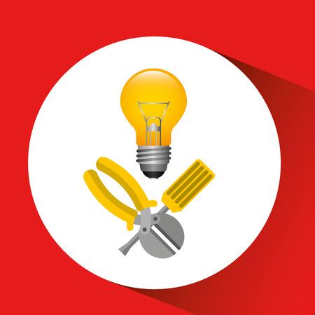 electrical energy power icon, vector illustration eps10 Illustration