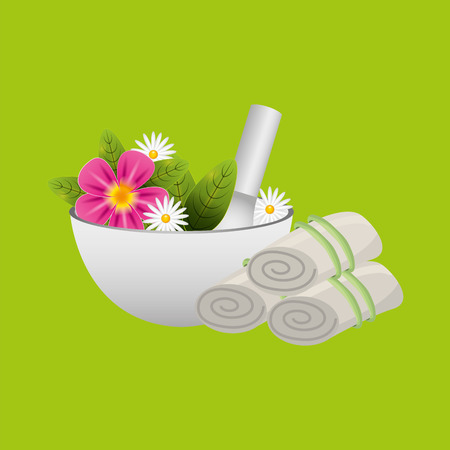 therapy with spa treatment icon, vector illustration