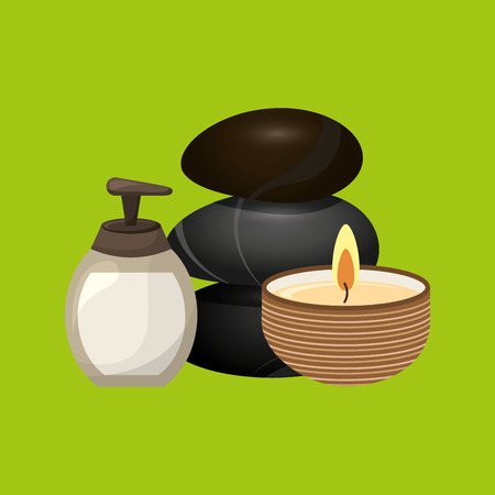 health resort: therapy with spa treatment icon, vector illustration