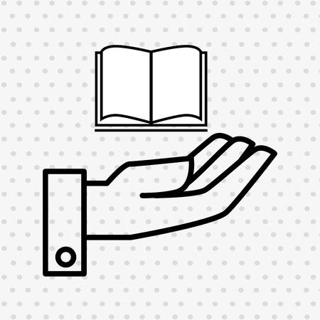 main et livre isolé design d'icône, illustration vectorielle illustration