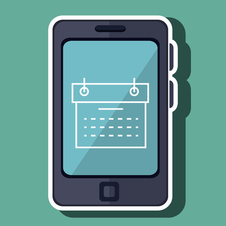 calendar isolated: smartphone with calendar isolated icon design, vector illustration  graphic