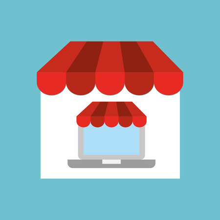 credit cart: phone with shopping store design, vector illustration