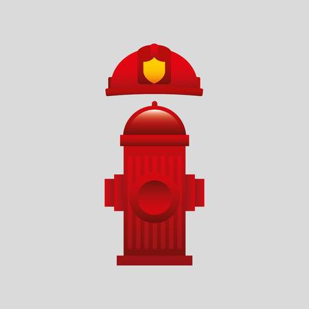 fire hydrant: firefighter job wirh Fire hydrant icon, vector illustration