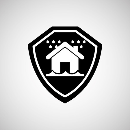 real estate house: real estate snow house icon, vector illustration