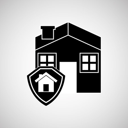 hurl: real estate home house icon, vector illustration
