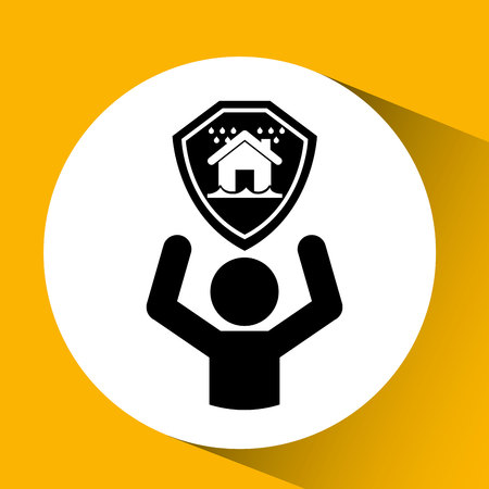 snow house: real estate snow house icon, vector illustration