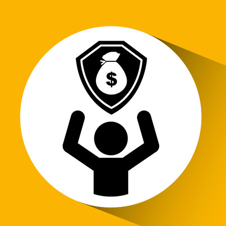 house exchange: bag of money cash icon, vector illustration