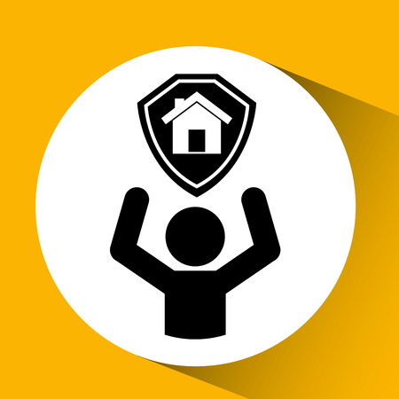 real estate house: real estate home house icon, vector illustration