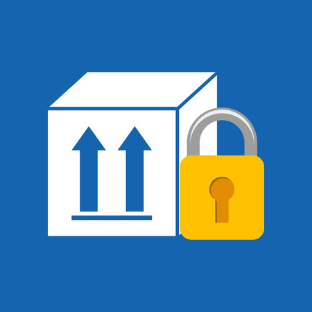 package icon: security in box package icon, vector illustration Illustration