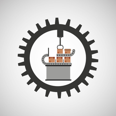 mech: robot technolgy machine, industry icon, vector illustration