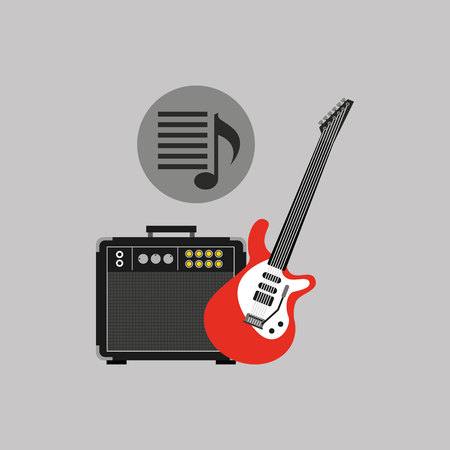 hand pointing website music design icon, vector illustration