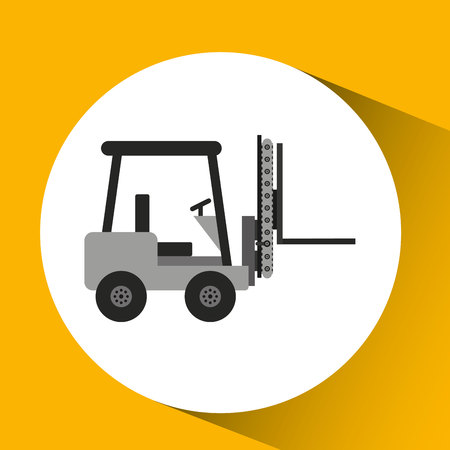 technolgy: forklift technolgy machine, industry icon, vector illustration