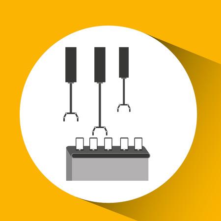 technolgy: robot technolgy machine, industry icon, vector illustration