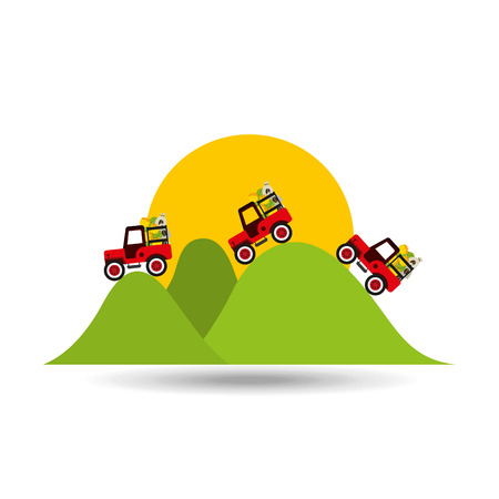 colombian farmer coffee bean icon, vector illustration Illustration