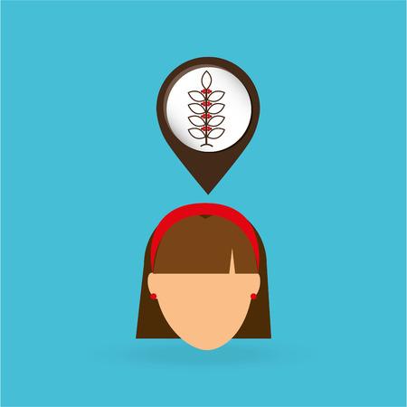 cafe colombiano: icono de banda plana con una larga sombra del hombre Vectores