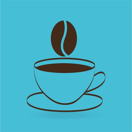 cafe colombiano: Concepto de iconos planos con infograf�a financieros larga sombra