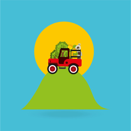 cafe colombiano: colombian farmer coffee bean icon, vector illustration Vectores