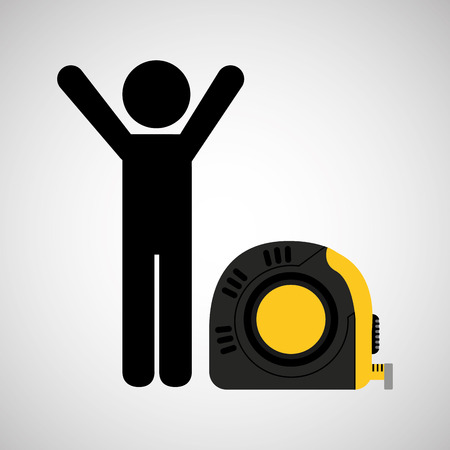 life style: tape measure, healthy life style, vector illustration