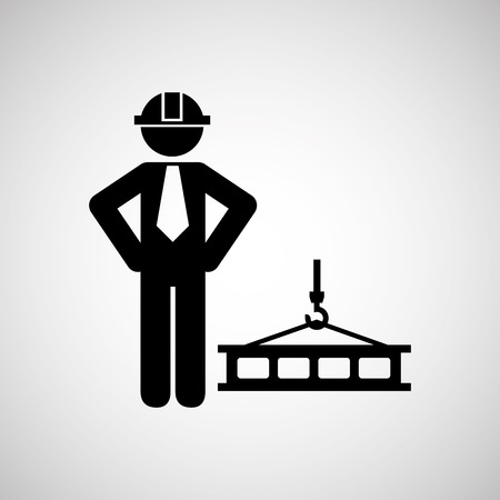 site: civil engineering icon with icon, vector illustration