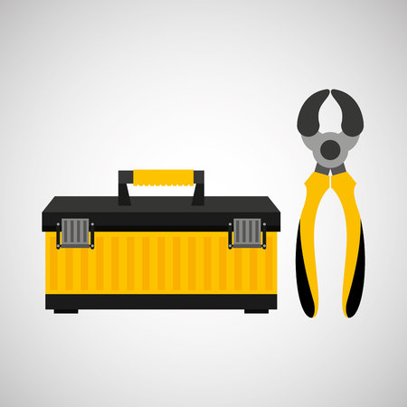 architectural team: Wire Strippers and construction tool icon, vector illustration