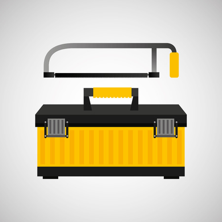 architectural team: Coping saw and construction tool icon, vector illustration