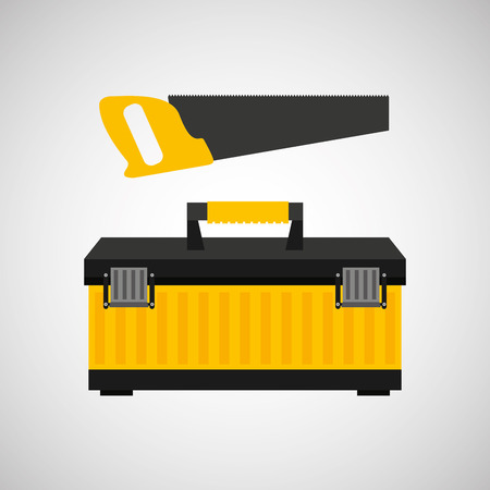 architectural team: Coping saw construction tool icon, vector illustration