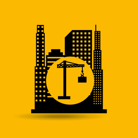 city on construction and architecture, vector illustration