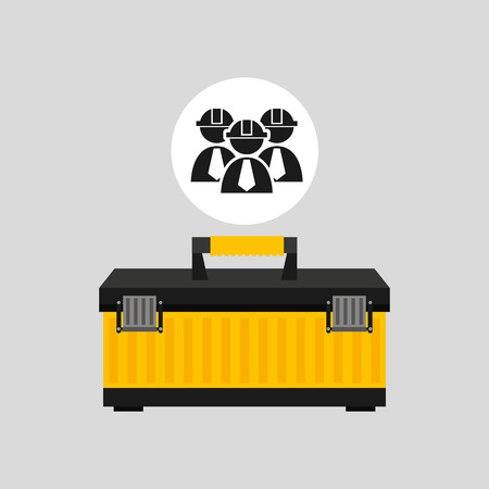 architectural team: kid of construction tool icon, vector illustration