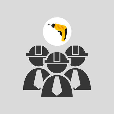drill and construction tool icon, vector illustration