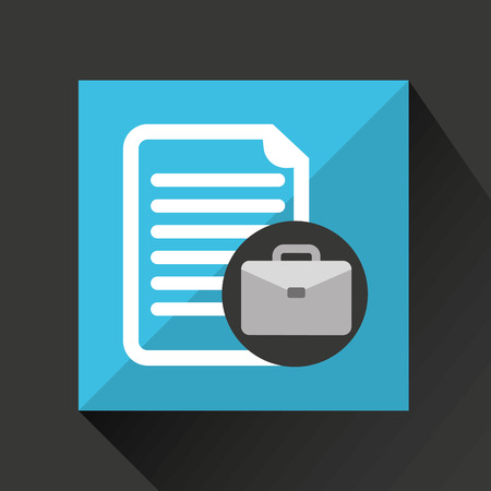 document file: briefcase with document file icon, vector illustration