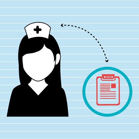 grampus: nurse  and clinic history isolated icon design, vector illustration  graphic