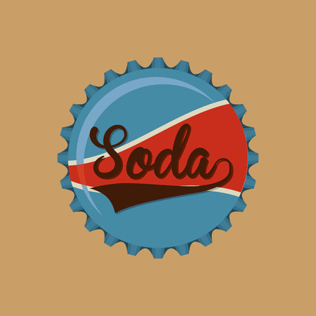 fizz: hand holding with soda icon, vector illustration