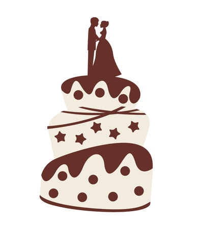 wedding cake isolated: wedding cake isolated icon design, vector illustration  graphic