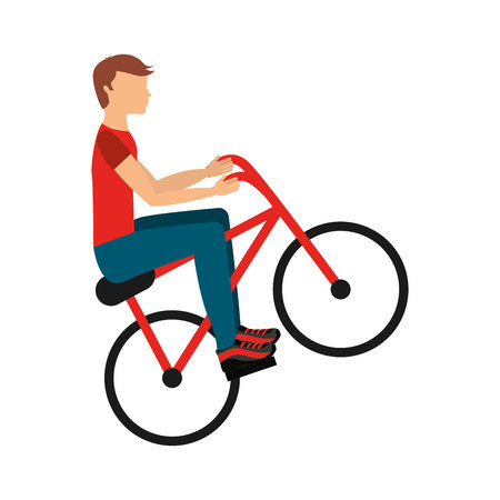 x sport: bicycle extreme isolated icon design, vector illustration  graphic