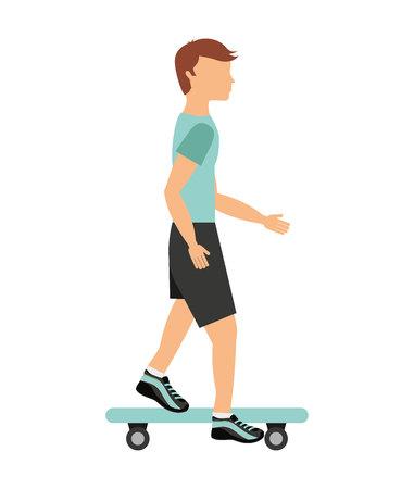 x sport: skateboard sport isolated icon design, vector illustration  graphic Illustration
