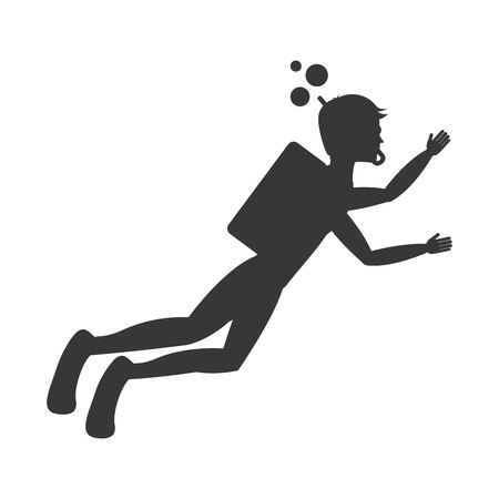 x sport: diving sport isolated icon design, vector illustration  graphic
