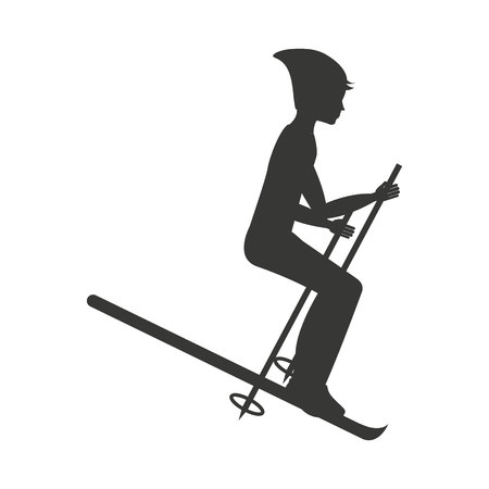 snow ski: snow ski isolated icon design, vector illustration  graphic
