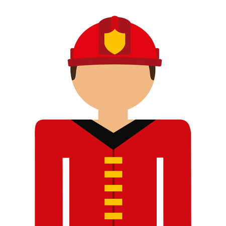 conflagration: firefighter avatar isolated icon design, vector illustration  graphic Illustration