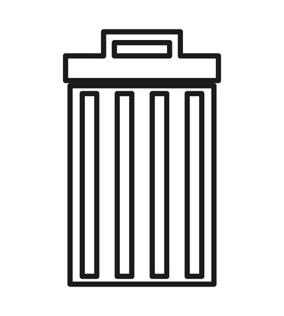 dispose: waste delete isolated icon design, vector illustration  graphic