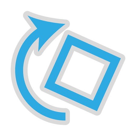 rotate: rotate screen button isolated icon design, vector illustration  graphic