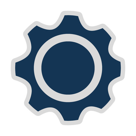 gears isolated icon design, vector illustration graphic