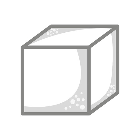 sugar cube: cube sugar isolated icon design, vector illustration  graphic