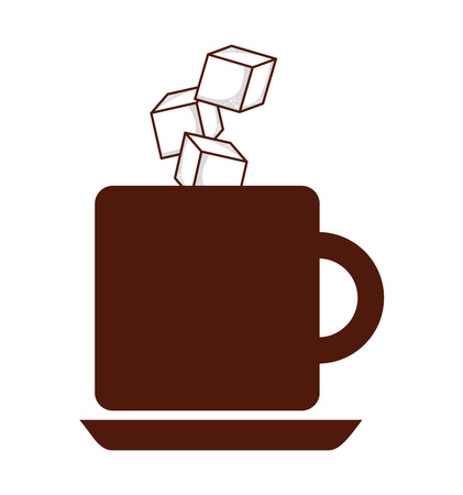 sugar cube: coffee with sugar cubes isolated icon design, vector illustration  graphic