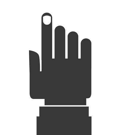 hand pointing: Hand pointing isolated icon design, Vector illustration