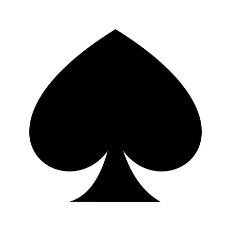 ace of spades isolated icon design, vector illustration  graphic