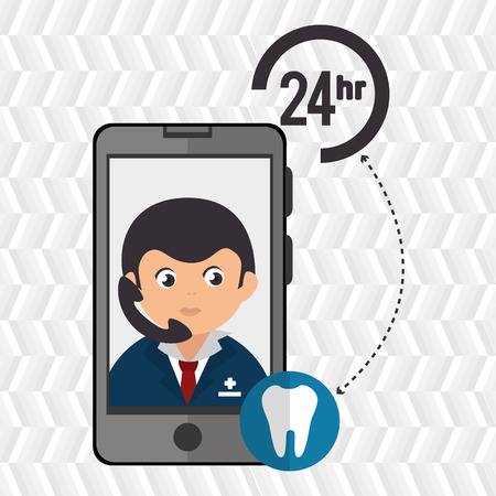 odontology: 24-hour health odontology isolated icon design, vector illustration  graphic