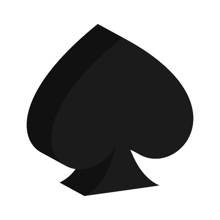 ace of spades: ace of spades isolated icon design, vector illustration  graphic