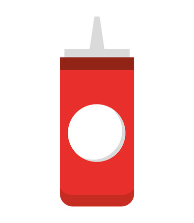 catsup: ketchup bottle isolated icon design, vector illustration  graphic