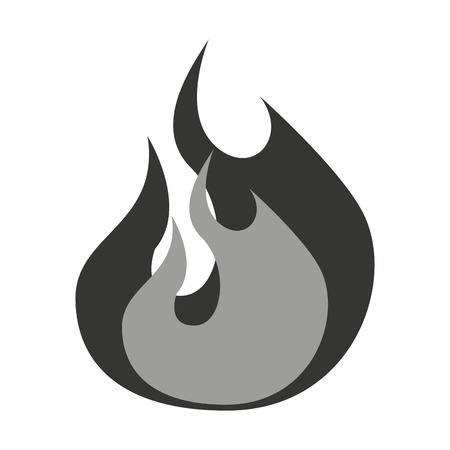 roller: flame gray isolated icon design, vector illustration  graphic